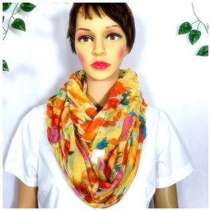 Accessories - Light Weight Floral Printed Infinity Scarf